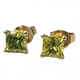 Cred Bespoke Natural Sapphire Stud Earrings