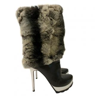 Walter Steiger Chinchilla Fur & Leather Boots