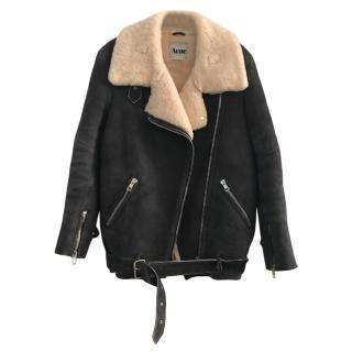 Acne Studios Velocite Shearling Sheepskin Coat Jacket