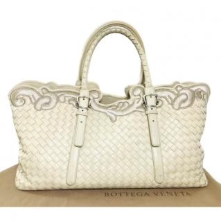 Bottega Veneta Embroidered Trim Intrecciato Tote