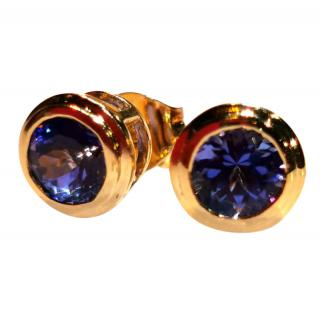 Bespoke 14ct Gold Tanzanite Earrings