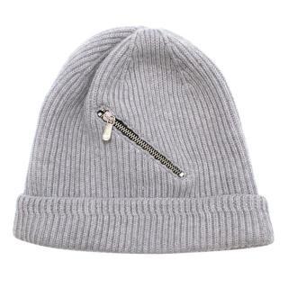Golden Goose Deluxe Brand Wool Zip Detail Beanie
