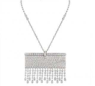 Bespoke White Gold Fully Loaded Diamond Necklace