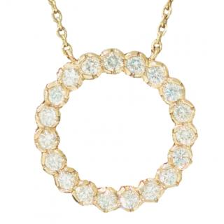 Cred Bespoke Diamond Halo Pendant Necklace