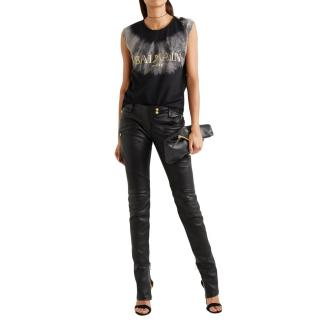 Balmain Leather Biker Trousers - New Season