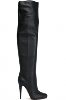 Jimmy Choo Giselle 120 textured-leather platform over-the-knee boots