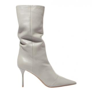 Miu Miu Grey Nappa Leather Boots