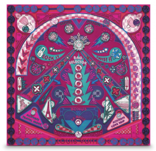 Louis Vuitton Carre Pinball LV Flamenco scarf