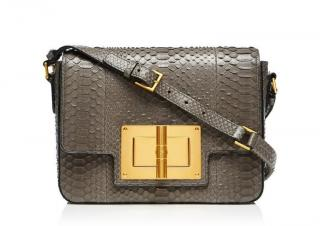 Tom Ford Natalia Medium Day Python Shoulder Bag