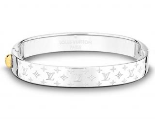 Louis Vuitton Silver Tone Nanogram Bracelet