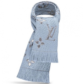 Louis Vuitton Blue Logomania Scarf