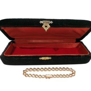 Bespoke Vintage Art Deco Curb Chain Bracelet