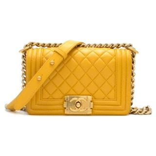 Chanel Mustard Yellow Small Boy Bag