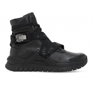 Balmain Black Troop Tech high Top Sneakers