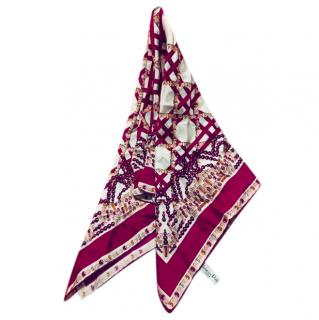 Dior Silk Jewel Printed Scarf