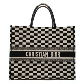 Christian Dior Black & White Book Tote