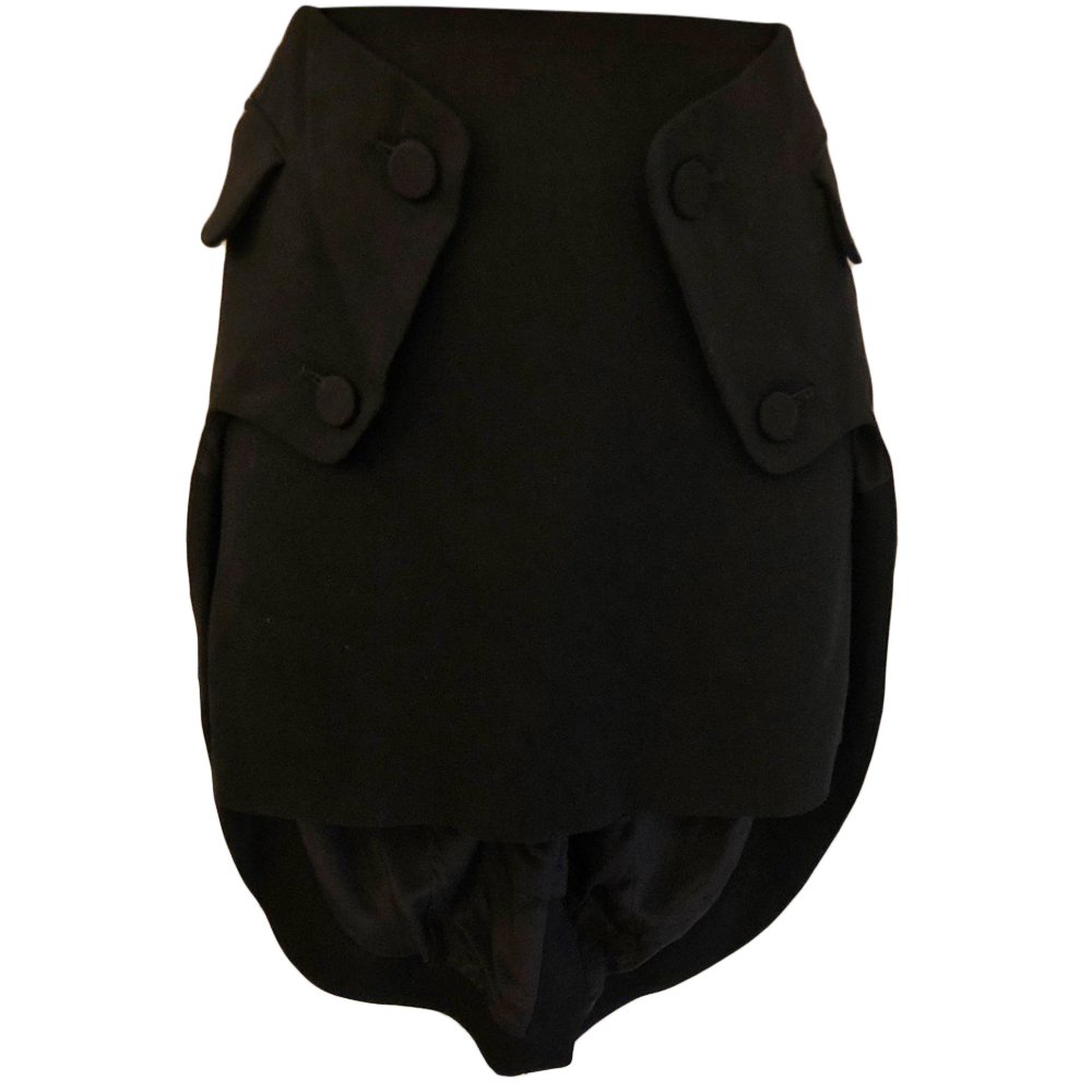 Alexander Wang Black Wool Skirt