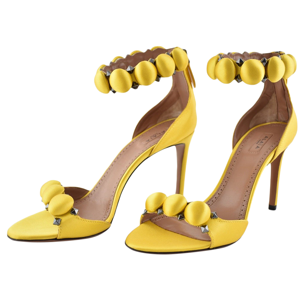 Alaia Ambre Yellow Bombe 90 Sandals