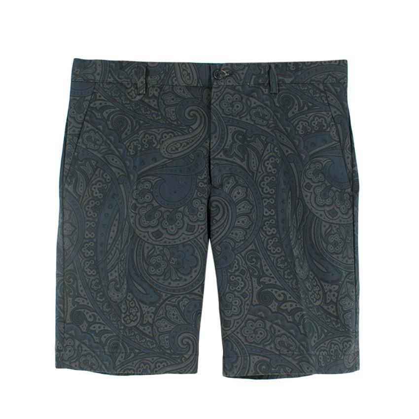 Etro Paisley Printed Tailored Shorts