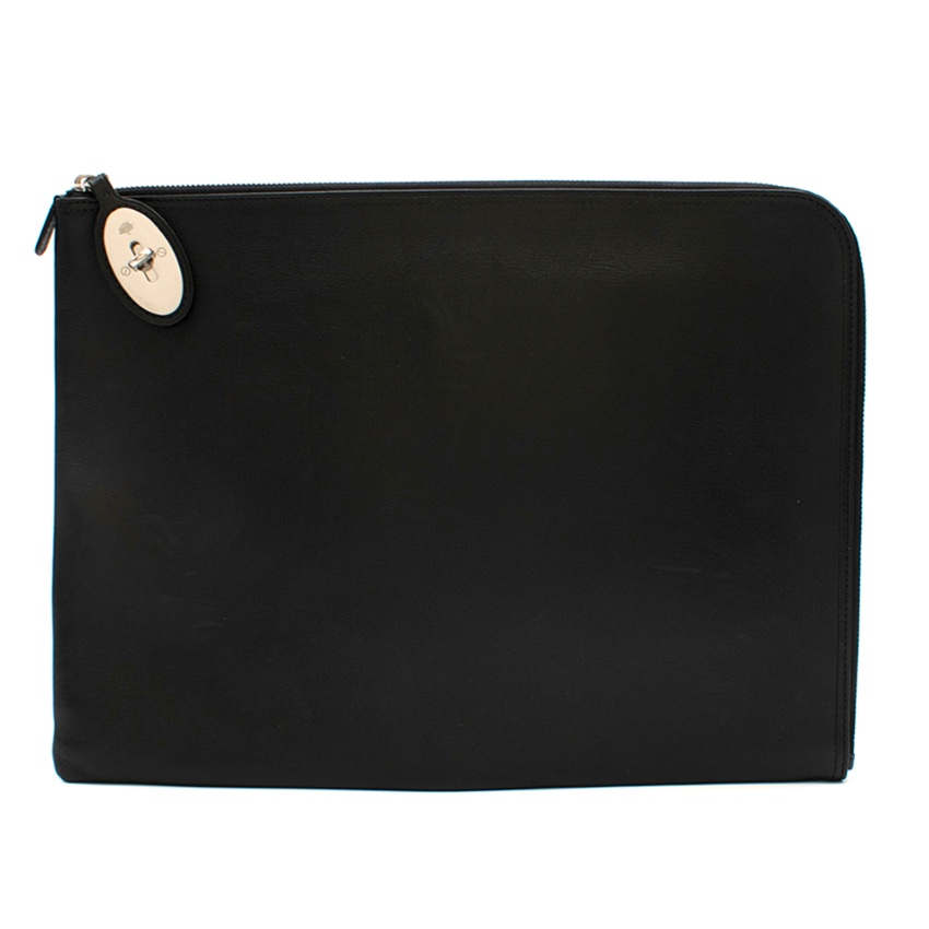 Mulberry Black Leather Tech Pouch
