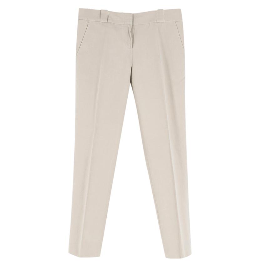 The Row Beige Straigh-leg Trousers