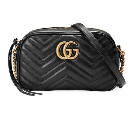 Gucci Black Marmont GG Shoulder Bag