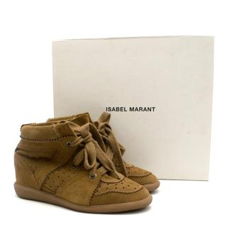 Isabel Marant Bobby Stainer Basket Wedge Sneakers