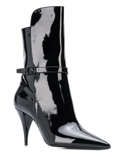 Saint Laurent Kiki Patent Ankle Boots