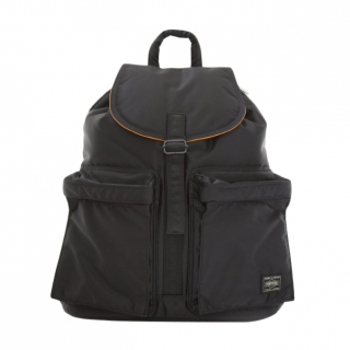 Porter Yoshida Black Tanker Ruck Sack With Pockets