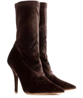 Yeezy Mink Velvet Ankle Boots