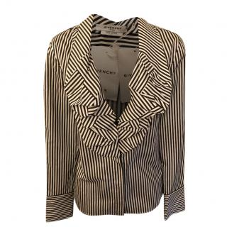 Givenchy Striped Ruffle Blouse