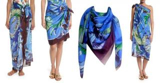 Pucci Cotton Jungle Print Pareo Scarf
