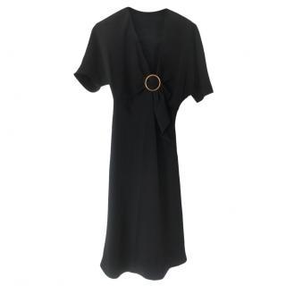 Prada black silk dress