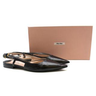 Miu Miu slingback leather flats