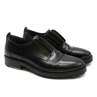 Lanvin Men's Black Slip-On Derby Shoes