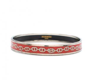 HERMES Enamel Printed Narrow Chaine d'Ancre Bracelet
