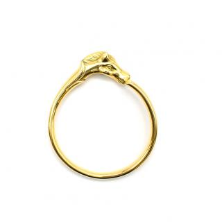 Hermes Gold Plated Cheval Horse Bangle
