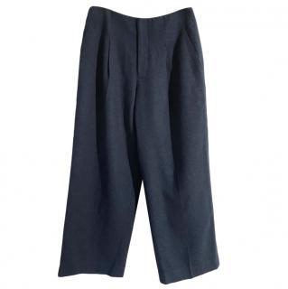 Club Monaco Blue Wool Blend Ankle Crop Pants