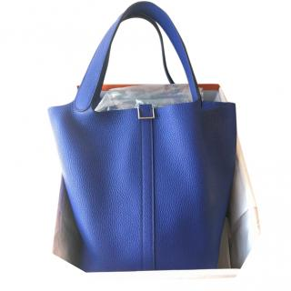 Hermes Blue Electric Clemence Leather Sac Picotin Lock 26