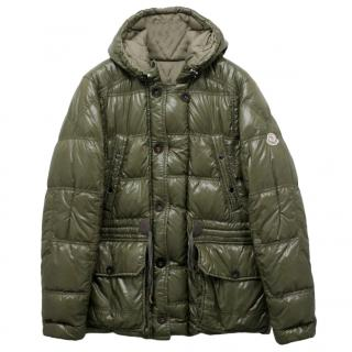 Moncler Men's Reversible Khaki Down Coat