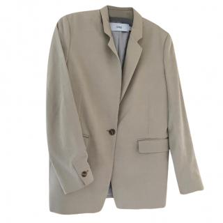 Closed Beige Boyfriend Blazer