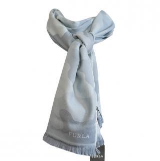 Furla Camo Print Wool Jacquard Scarf