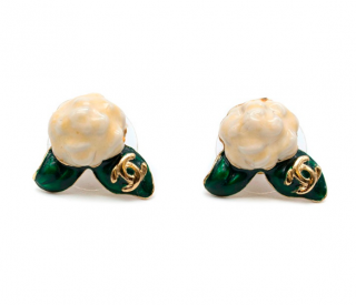 Chanel Camellia Stud Earrings