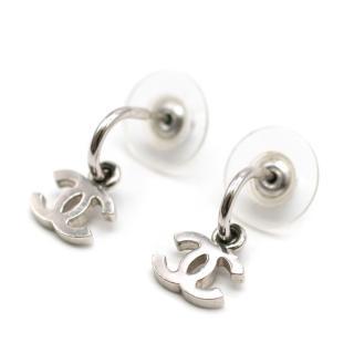 Chanel CC Half Hoop Drop Earrings