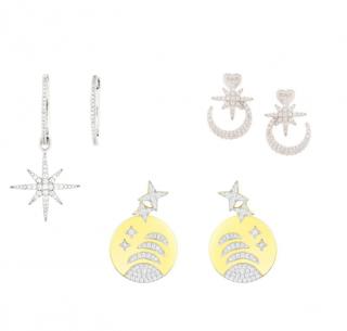 APM Monaco Set of 3 Star Style Earrings