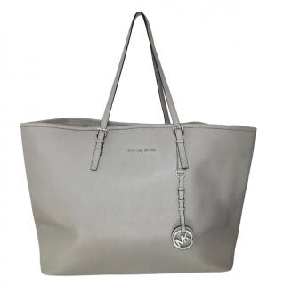 Michael Michael Kors Grey Saffiano Leather Tote