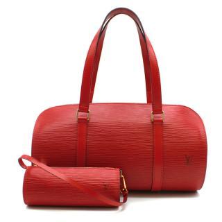 Louis Vuitton Red Epi Leather Soufflot Bag