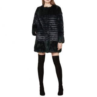 Maje Rabbit Fur Coat