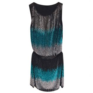 Emporio Armani Fringed Sequin Skirt & Top