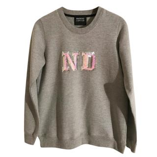 Markus Lupfer Sequin Embellished Grey Sweatshirt